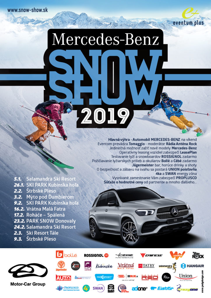 Liptov akcie udalosti lipovzije liptov zije mercedes-benz snow show 2019 jasna nizke tatry
