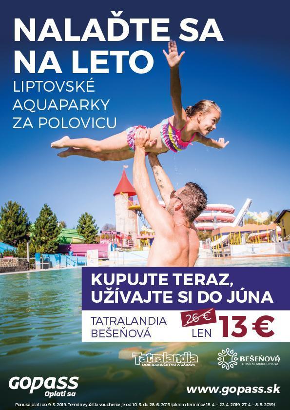 Liptov akcie udalosti lipovzije liptov zije naladte sa na leto aquapark tatralandia vodny park besenova ginopark