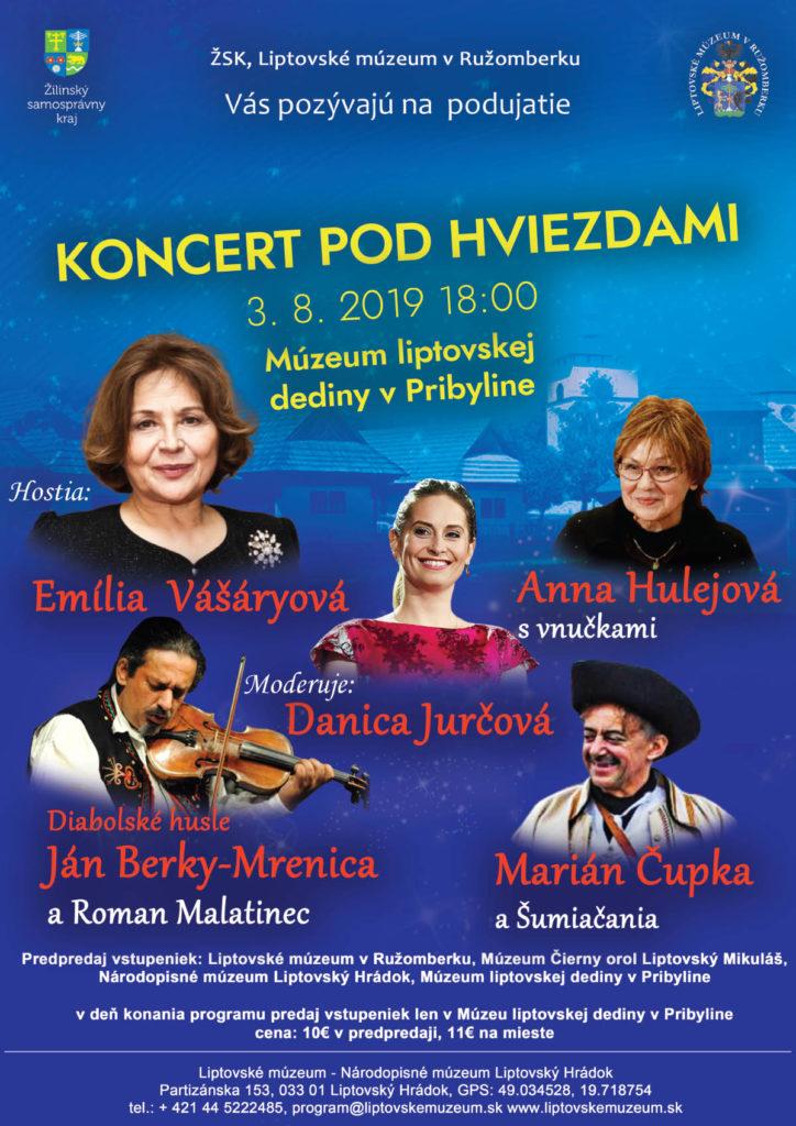 Liptov akcie udalosti lipovzije liptov zije koncert pod hviezdami muzeum liptovskej dediny